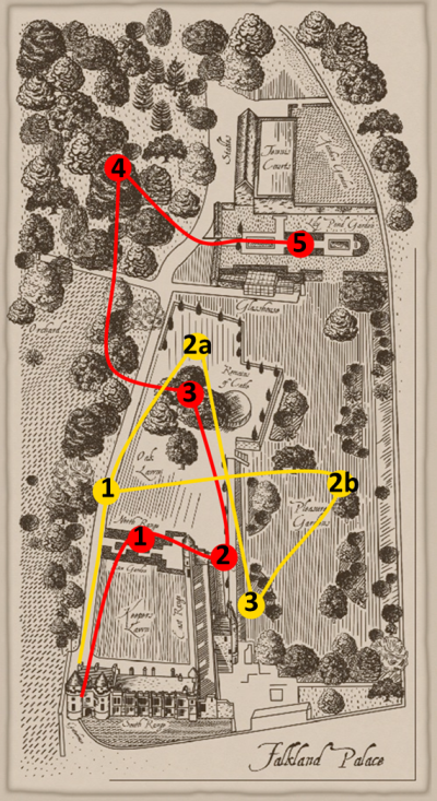 Historical Map of Falkland Palace